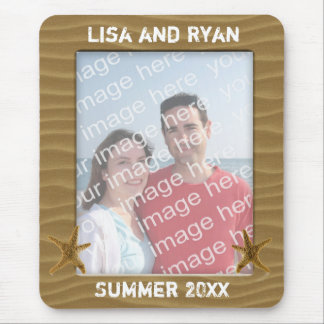 Personalized Beach Photo Frame Mouse Pad