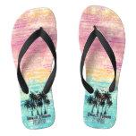 Personalized beach please flip flops