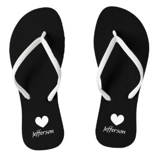 Personalized beach wedding flip flops for guests