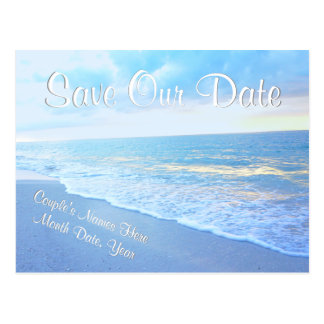Personalized Beach Wedding Save the Date Postcards