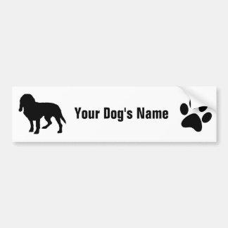 Personalized Beagle ビーグル Bumper Sticker