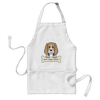 Personalized Beagle Adult Apron