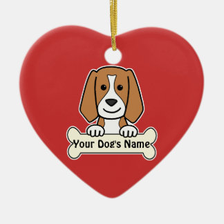 Personalized Beagle Ceramic Ornament