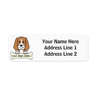 Personalized Beagle Label