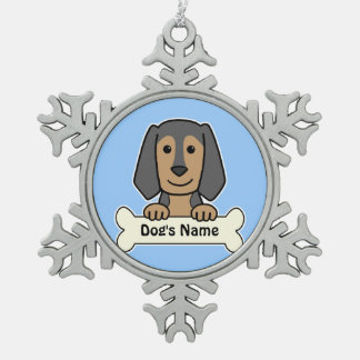 Personalized Beagle Snowflake Pewter Christmas Ornament