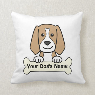 Personalized Beagle Throw Pillows