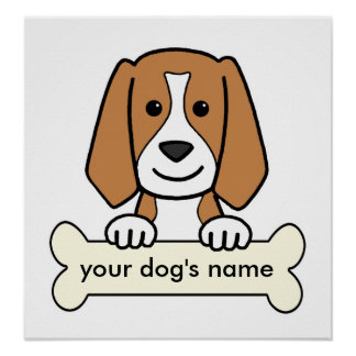 Personalized Beagle Poster