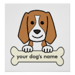 Personalized Beagle Print