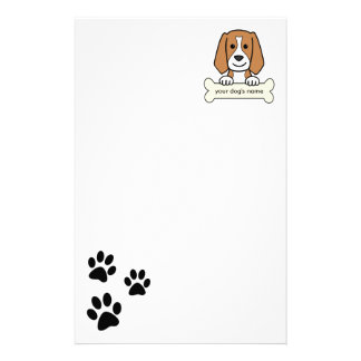 Personalized Beagle Stationery Paper