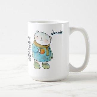 Personalized Bear Coffee Quote Coffee Mug