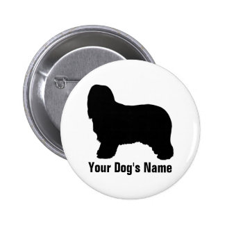 Personalized Bearded Collie ビアデッド・コリー Pinback Button