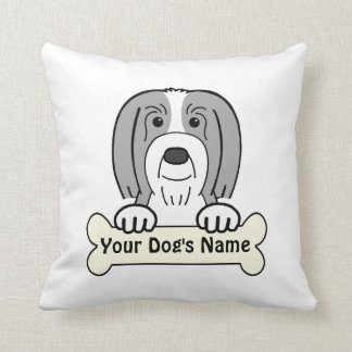 Personalized Bearded Collie Pillows