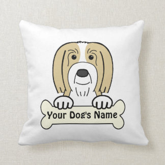 Personalized Bearded Collie Pillow