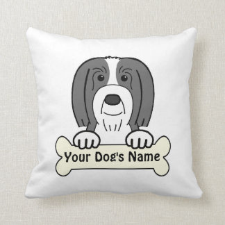 Personalized Bearded Collie Throw Pillow