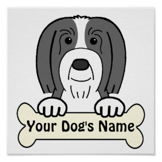 Personalized Bearded Collie Poster