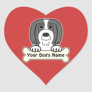 Personalized Bearded Collie Sticker
