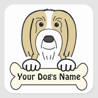 Personalized Bearded Collie Square Sticker
