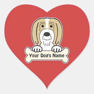 Personalized Bearded Collie Heart Sticker