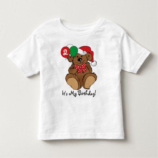 Personalized Beary Christmas Birthday Shirt