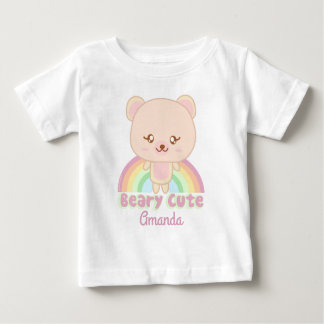 Personalized Beary cute Baby T-Shirt