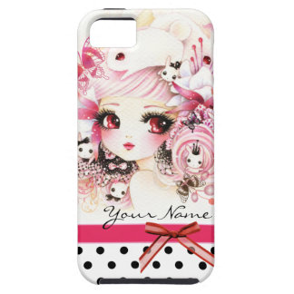 Personalized - Beautiful anime girl with bunnies iPhone 5 Covers
