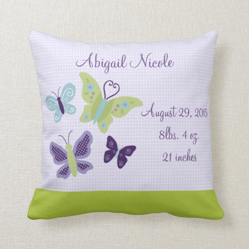Personalized Beautiful Butterflies Pillow Keepsake