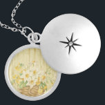 """Personalized beautiful colorful daffodils locket necklace<br><div class=""""desc"""">Personalized beautiful colorful daffodils are great gift for the newlyweds happiest day ever. Fill in your name and initial at the prompt to personalize and customize anyway you like.</div>"""