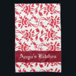 "Personalized Beautiful Hungarian Art Kitchen Towel<br><div class=""desc"">A beautiful kitchen towel with a floral Hungarian print and personalization.  Would make a great gift!</div>"