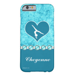 Personalized Beautiful Turquoise Gymnastics Barely There iPhone 6 Case