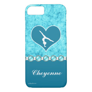 Personalized Beautiful Turquoise Gymnastics iPhone 8/7 Case