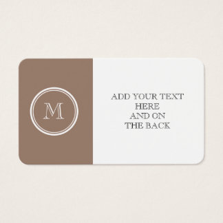 Personalized Beaver Brown High End Colored Business Card