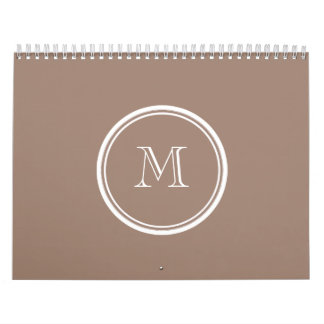 Personalized Beaver Brown High End Colored Calendar