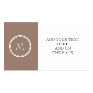 Personalized Beaver Brown High End Colored Double-Sided Standard Business Cards (Pack Of 100)