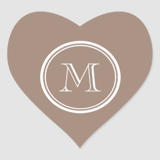 Personalized Beaver Brown High End Colored Heart Sticker