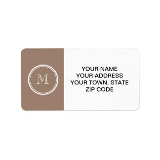 Personalized Beaver Brown High End Colored Label
