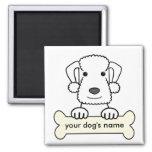Personalized Bedlington Terrier Refrigerator Magnet
