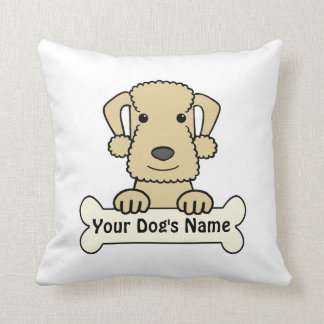 Personalized Bedlington Terrier Throw Pillows