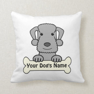 Personalized Bedlington Terrier Pillows