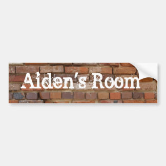 Personalized bedroom sticker