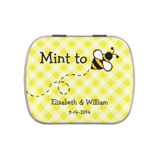 Personalized Bee Mint Tin Jelly Belly Tin