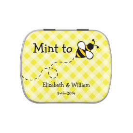 Personalized Bee Mint Tin Jelly Belly Tin at Zazzle