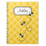 Personalized Bee Notebook