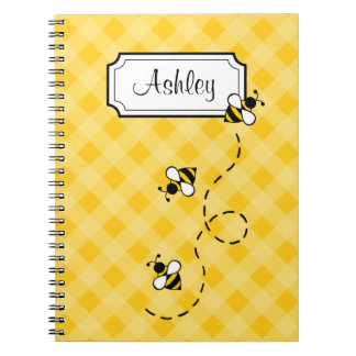 Personalized Bee School Office Notebook Gift