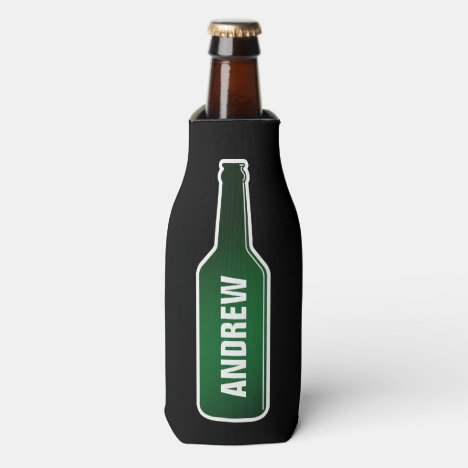 Personalized beer bottle cooler with custom name