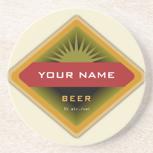 Personalized Beer coasters