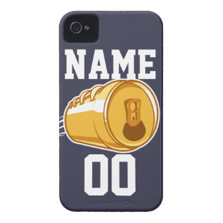 Personalized Beer & Football Case-Mate iPhone 4 Case