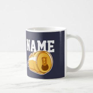Personalized Beer & Football Coffee Mug