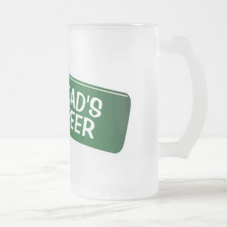 Personalized beer glass for dad | Fathers day gift Frosted Glass Beer Mug