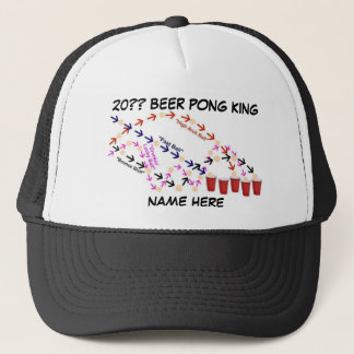 Personalized Beer Pong King Trucker Hat
