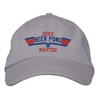 Personalized Beer Pong Master Swag on a Embroidered Baseball Hat